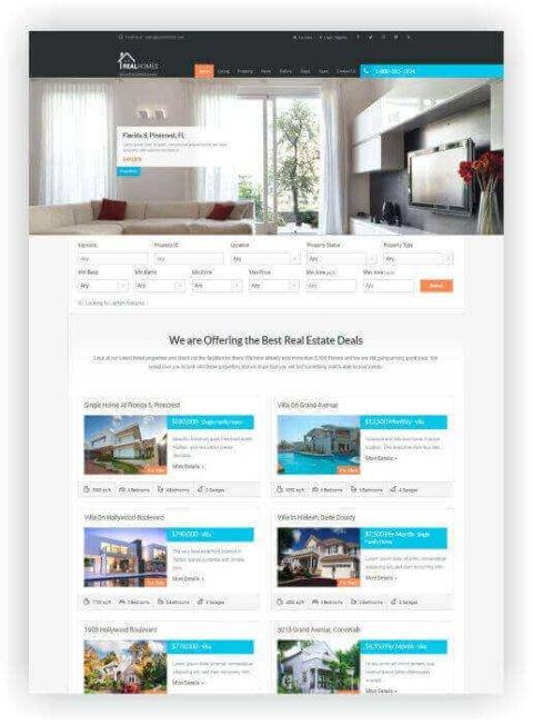 Responsive WordPress Real Estate Theme