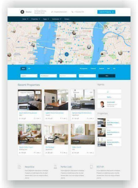 WordPress Immobilien Vorlage