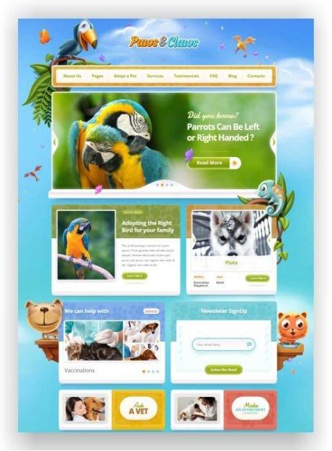 WordPress Tierarzt Webseite