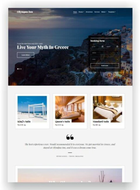 Gutes WordPress Thema für Hotel
