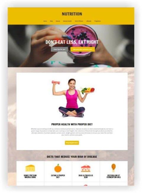 WordPress Thema für Ernährung