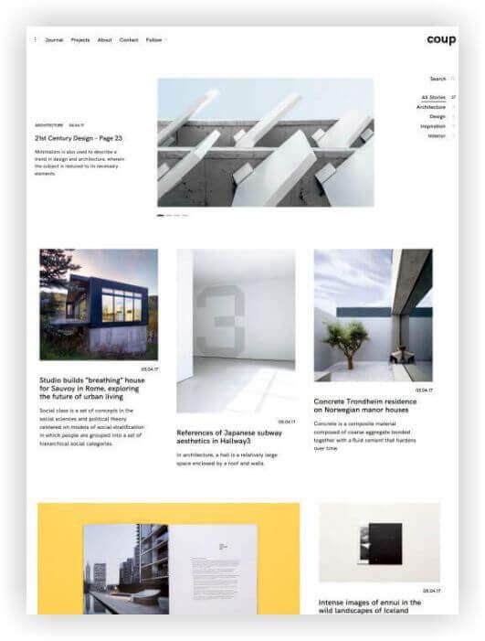 WordPress tema de Arquitectos - Para diseñadores y creativos!