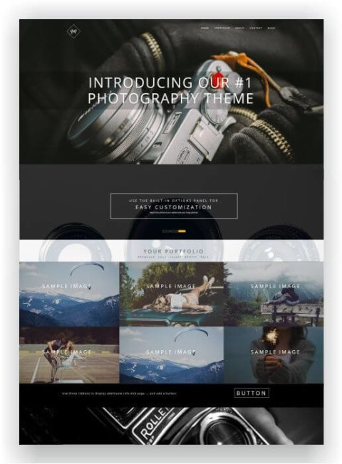 Website for photographers with WordPress